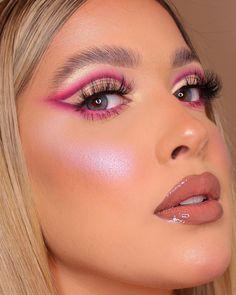 Purple Makeup Looks, Makeup Eye Looks, Pink Makeup, Crazy Makeup, Glam Makeup, Pretty Makeup, Eyeshadow Makeup, Makeup Inspo, Makeup Cosmetics