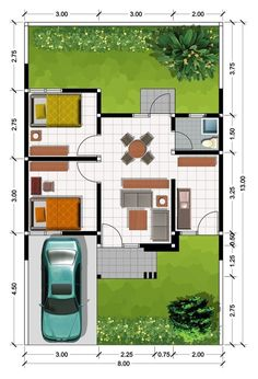 Home bar plans layout Ideas 2 Bedroom House Plans, Duplex House Plans, Family House Plans, Small House Plans, House Floor Plans, Home Bar Plans, Home Design Plans, Minimalis House Design, Type 45