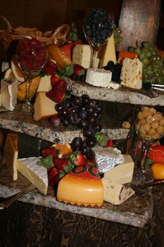 Fruit & Cheese Display The Catering Company - Williamsburg Va www.williamsburgoccasions.com