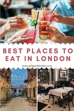London is filled with amazing places to eat no matter your budget or taste, and in fact, one of London's best things to do is simply to sample the cuisine! Beautiful Places To Visit, Amazing Places, London Travel, Travel Uk, Best Countries In Europe, London With Kids, Ireland Travel Guide, London Night, London Attractions