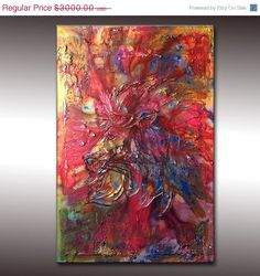 Original Textured Modern Abstract Figurative by newwaveartgallery, $2550.00