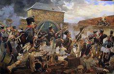 French attack on La Haye Saint 1815: