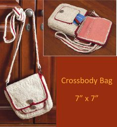 Cross body bag from Pin Loom Weaving by Margaret Stump