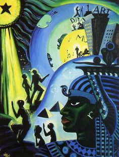 """kemetic-dreams: """" Ascents of Ethiopia, painted by Lois Mailou Jones, African American Artist during the Harlem Renaissance. """"Ascent of Ethiopia"""" was painted by Lois Mailou Jones in This. African American Culture, African American Artist, American Artists, African Art, American Women, Harlem Renaissance Artists, Renaissance Kunst, Renaissance Artworks, Montmartre Paris"""