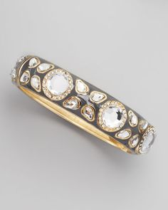Deco Clear Cabochon Bracelet, Gray by Sequin at Neiman Marcus.