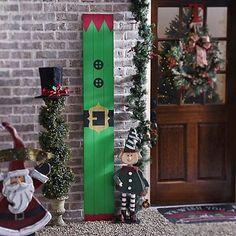 Santa's Elf Wood Plank Plaque