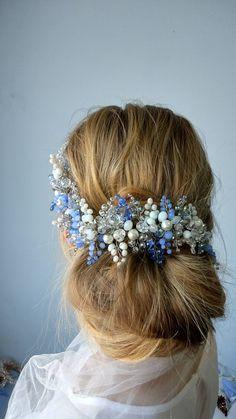 Long weave Accessories Crystal Swarovski hair vine, Wedding Wreaths Accessories Bridal tiara Bridal