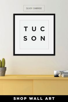 Culver and Cambridge's Minimalist Tucson Print. Bold, black typography with your favorite place, your home, or where you left your heart. Our minimalist prints make great gallery walls. Geography décor wall art prints are available in a wide range of places. Tucson Poster, Tucson Wall Art, Minimalist City Wall Art, City Poster, Travel Art, Black and White Modern Art || culverandcambridge.com || Tucson, Arizona || #poster #artprint #walldecor Office Wall Decor, Wall Art Decor, Wall Art Prints, Minimalist Office, Office Prints, Black And White Prints, Tucson Arizona, Gallery Walls, Typography Prints