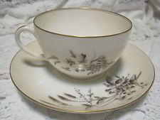 T&V Tressemanes Vogt Limoges France Porcelain Cup & Saucer LOT OF 2 Sets