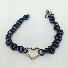 14k Gold Heart Bracelet by cdsodesigns