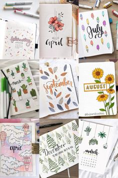 If you're looking for bullet journal monthly cover ideas, this post has bullet journal ideas for every month of the year! Use your bullet journal to increase your productivity. Simple, Beautiful and Minimalist Bullet Journal Covers you need to try rig Bullet Journal School, Bullet Journal Cover Ideas, Bullet Journal Headers, Bullet Journal Banner, Bullet Journal Writing, Bullet Journal Aesthetic, Bullet Journal Inspo, Journal Covers, Monthly Bullet Journal Layout