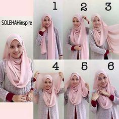 27 Trendy How To Wear Hijab Ideas Tutorials Head Wraps Square Hijab Tutorial, Simple Hijab Tutorial, Pashmina Hijab Tutorial, Hijab Style Tutorial, Hijab Dress, Hijab Outfit, Habits Musulmans, How To Wear Hijab, Modele Hijab