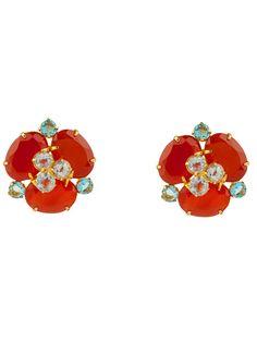 Carnelian & Blue Quartz Button Earrings on Bounkit Jewelry Cute Stud Earrings, Button Earrings, Nicole Miller, Carnelian, Studs, Cool Designs, Fine Jewelry, Artisan, Quartz
