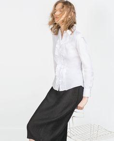 러플 블라우스 - 셔츠 - 블라우스 | 셔츠 - WOMAN | ZARA 대한민국