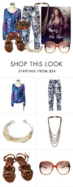 """""""Baring Her Soul"""" by darksweetlady ❤ liked on Polyvore featuring Janis, Nine West, Maurie & Eve, Daco Milano, Miss Selfridge, Sondra Roberts, H&M, Christian Dior and janis joplin"""