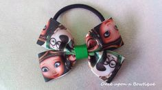 Hand made mr peabody and sherman hair bow by OnceUponABowtiqueUK