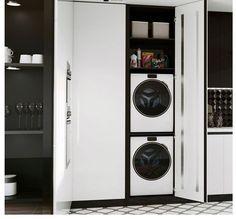 En muchas ocasiones no sabemos como solucionar el problema de ubicar la lavadora y la secadora en la cocina. Aquí os mostramos una solución. Un practico armario donde ubicar ambos aparatos. Estética, funcionalidad y búsqueda de soluciones. Office Hogar: C/ Fco. Vitoria 15. Zaragoza #solucionesparacocinas #officehogar #fcovitoria15 #cocinasybañosenzaragoza #proyectosdecocina #interiorismo Stacked Washer Dryer, Washer And Dryer, Deco, Home Appliances, Cuisine Design, Clothes Dryer, Gadgets, Zaragoza, Wardrobes