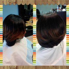 inverted weave bob custom cut nuphaze studio hair care