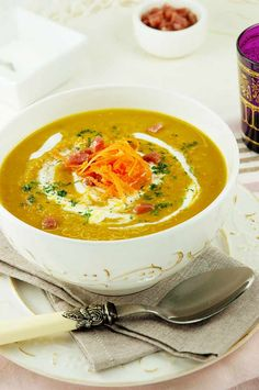 Carrot and Red Lentil Soup with a hint of Cumin - I replace the cream with BPA free canned coconut milk