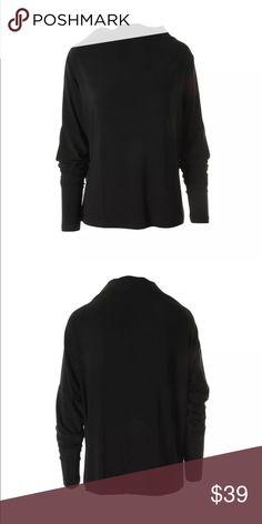 "Kamalikulture All in one Mini Black Pull Over XL Kamalikulture Women's all in one mini black Pullover top shirt size XL 95%Polyester 5% Spandex. Long sleeves 25"" Bust . Matt Jersey . Gorgeous top! kamalikulture Tops Blouses"