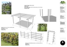 Lykkans trädgårdsdesign pergola staket for druvor-rosenbage
