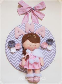Porta maternidade boneca princesa