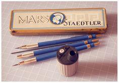 Beautifully designed pencils and pencil box