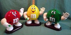 3 Vintage Large M M Candy 1991 Dispeser Plain Red Peanut Yellow Plain Green | eBay