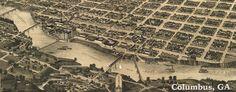 Wellge's #map of Columbus, #Georgia (1886)