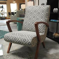 Walnut Frame Chair #furniture #interiordesign #desmoines #homedecor #beautiful #style #home #photooftheday