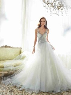 Wishesbridal A Line Wedding Dress With Pleating
