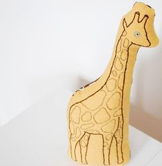 hand-embroidered giraffe