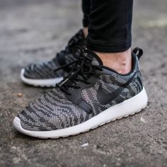 """Nike - Roshe One Knit Jacquard Shoe Nike """"Roshe One Knit Jacquard"""" shoe. Pattern in black and white. New with tags.  Offers welcome.  No trades.  Bundle for discount. Nike Shoes"""