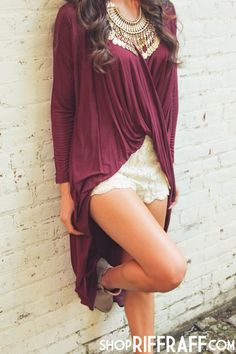 Knot So Typical Tunic Dress in wine