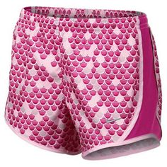 """TheNikeGirls' GFXTempo Running Shorts Pinkare great for any athletic activity. These Dri FITshorts have an elastic waist and an internal drawcord for the perfect fit, with a cool youthful graphic print and mesh side panels for great ventilation. A hidden coin/key pocket and brief liner add practical performance.Fabric: 100% Polyester TaffetaTechnology: Dri FITColor: Arctic Pink/Hyper Fuchsia/Matte SilverInseam: 2.6""""For information regarding sizes, please refer to oursizing chart."""