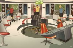 The Starship Enterprise Looks Great Decked Out In Midcentury Design Cory Doctorow, Mid-century Modern, Modern Design, Starship Enterprise, Paramount Pictures, Deep Space, Sci Fi Art, Mid Century Design, Star Trek