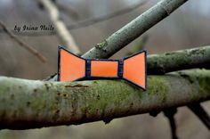 #галстукбабочка из витражного стекла в технике тиффани от #byirinaneilo