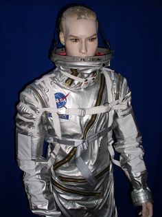 How costumer Elizabeth Galeria fabricated this replica spacesuit to meet Adam& specific requirements and cosplaying needs. Astronaut Costume, Mercury, Cosplay, Costumes, Suits, How To Make, Meet, Craft Ideas, Clothes