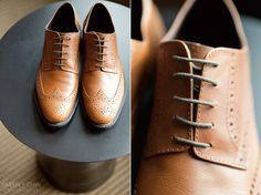 Brown shoes for my brothers wedding will look best against his grey suit