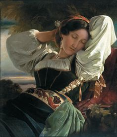 Girl from the Sabine Mountains - Artist: Franz Xaver Winterhalter  Completion Date: 1840