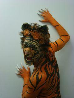 Tiger Bodyart by 1lonelyangel.deviantart.com on @deviantART
