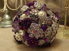 My bouquet? Would need some flowers. Beautiful purple brooch bouquet