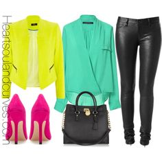 Beat the cold weather in bright colors., created by adoremycurves on Polyvore