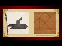 Tangram Submarine - Tangram puzzle #139 - Providing teachers and pupils with tangram puzzle activities