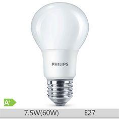 Bec LED Philips 7.5W E27 forma clasica A60, lumina neutra http://www.etbm.ro/tag/148/becuri-led-e27