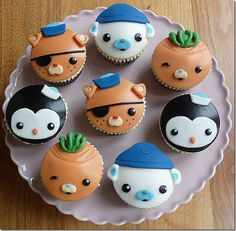 Octonauts Cupcakes!! OMGsh, Madylin and Kadin would LOVE these!!