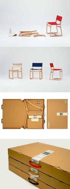一只紙箱帶的走-椅子設計