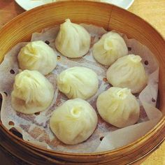 Xiao long bao (steamed mini pork dumplings, new shanghai, sydney, australia)