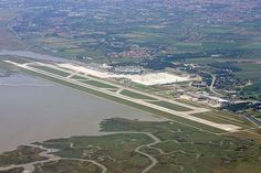 Marco Polo Airport serves Venice, Italy, and flying in and out of there in 2003 is the only time I can remember the ground transportation being a water taxi. Aircraft Images, Ground Transportation, Earth Photos, Germany And Italy, Luxury Holidays, Aerial Photography, Venice Italy, Aerial View, Italy Travel