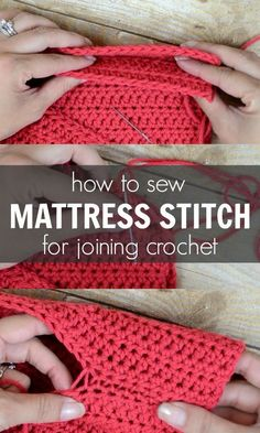 How to sew the Mattress Stitch